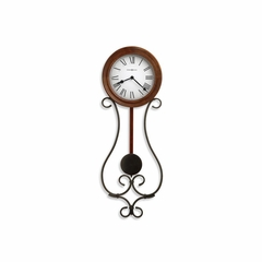 Yvonne Wrought Iron Pendulum Wall Clock - Howard Miller