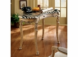 Zebra Design Marble Fossil Stone Top Writing Desk