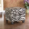 SEI Zebra Faux Leather Storage Ottoman