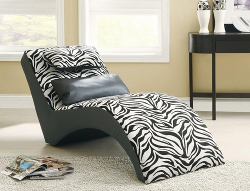 Zebra Print Furniture Chaise - 550071