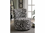 Zebra Print Round Swivel Chair - 902002