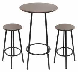 Zella Bar Table Set Espresso - LumiSource - B-FT-ZELLA-ESP