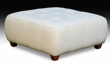 Zen Leather Square Cocktail Ottoman - Diamond Sofa - ZENSQOTTO