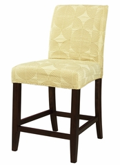 "Zest Yellow Circle ""Slip Over"" for Counter Stool or Bar Stool - Powell Furniture - 742-249Z"