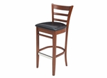 Zoe, Caf Height Bisrto Stool - ROF-8095-CHBK