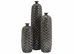 Zurie Ceramic Bottles (Set of 3) - IMAX - 1597-3