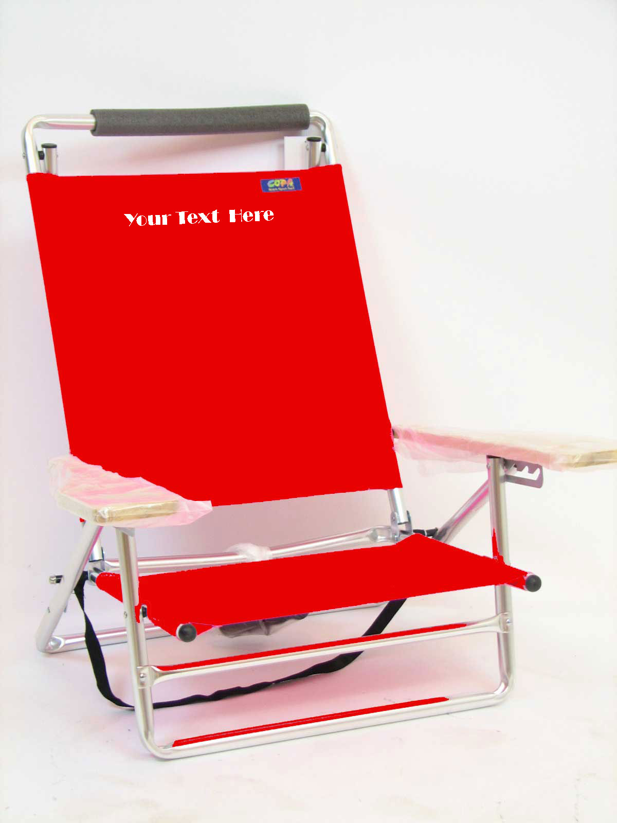 IMPRINTED Personalized Deluxe Lay Flat 5 Position Beach Chair Personalized Chair Sale