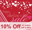 10% Off Valentine's Day Sale