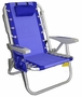 Rio Deluxe Aluminum Lay-Flat Backpack Chair w/Cooler