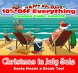 10% Off Christmas In July Sale