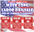 Labor Day INSTANT REBATES Sale