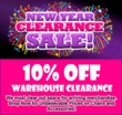 10% Off Warehouse Clearance