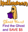 Find the Halloween Ghost and SAVE $5!
