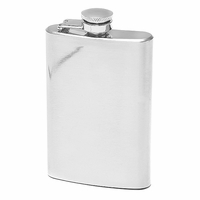 4 Ounce Mirror Finish Hip Flask - Free Engraving