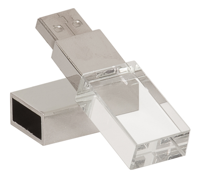 4gb personalized crystal usb flash drive with white led light usb