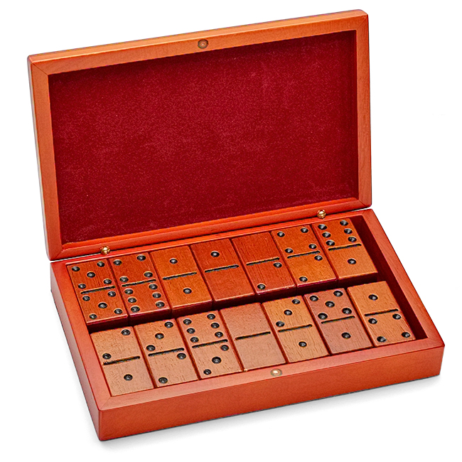 Birch Wood Personalized Domino Set - Discontinued ...