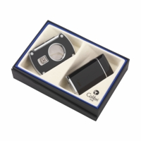 Colibri Evoke Lighter & Slice Cigar Cutter Gift Set