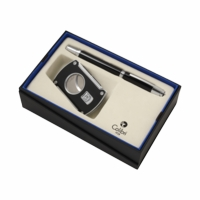 Colibri Slice Cigar Cutter & Roller Ball Pen Gift Set