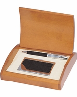 Executive Pen and Business Card Case Gift Set - Free Personalization