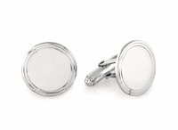 Hoop  Collection Sterling Silver Engravable Cufflinks