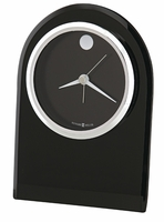 Logan Black Glass Alarm Clock by Howard Miller - Discontinued
