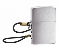 Lossproof w/Loop & Lanyard Brushed Chrome Zippo Lighter - Free Engraving - ID# 275