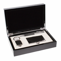 Pen, Card Case and Keychain Gift Set - Free Personalization