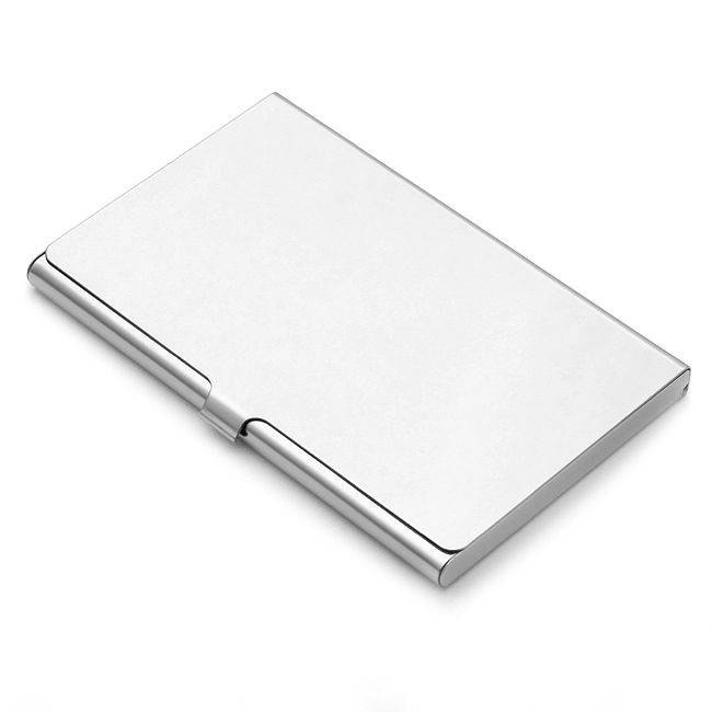 Polished Stainless Steel Business Card Holder Free
