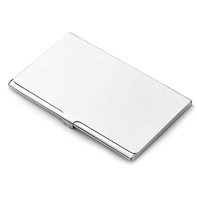 Polished Sterling Silver Business Card Case Free