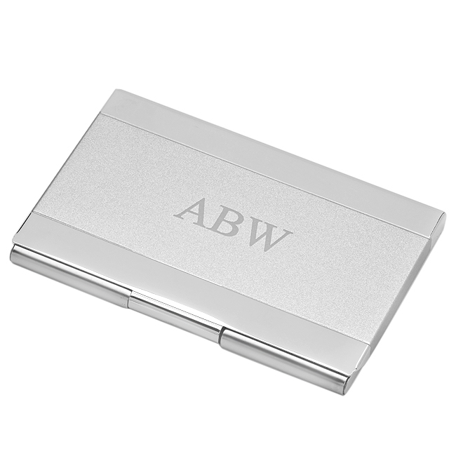 Personalized Two Tone Business Card Holder Free