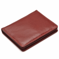 Snap Closure Leather Card Case Wallet - Free Personalization