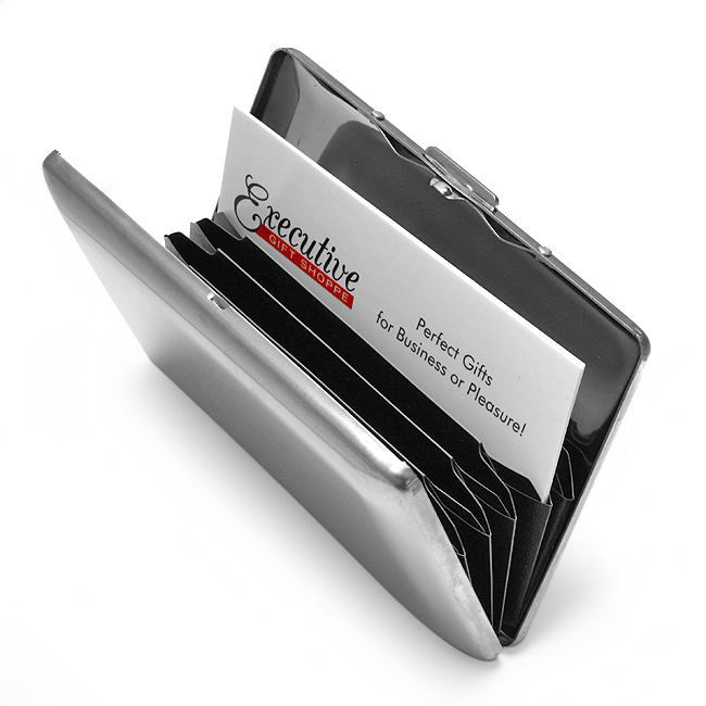 Briefcase Business Card Holder Free Engraving Business