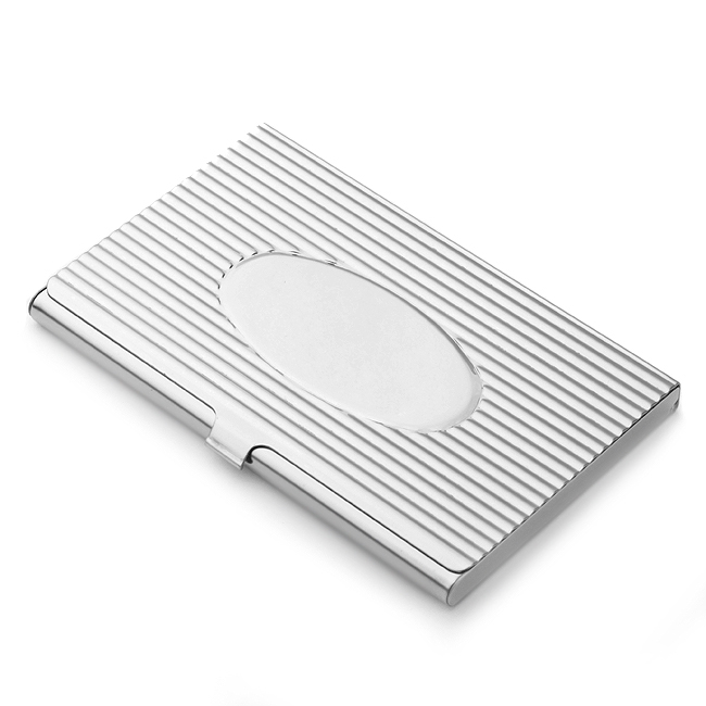 The Oval Stainless Steel Business Card Holder Free