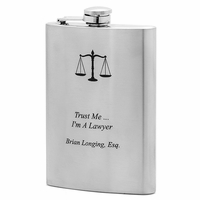Trust Me ... I'm A Lawyer Flask - Free Engraving