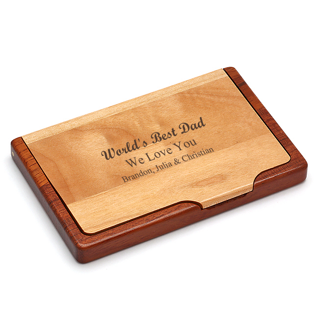 World s Best Dad Business Card Holder Dad s Gifts