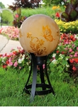 "10"" Etched Gold Butterfly Globe w/Stand Combo"