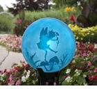 "10"" Etched Topaz Dancing Fairy Globe"