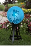 "10"" Etched Topaz Dancing Fairy Globe w/Stand Combo"