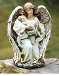 "Angel With Baby Statue 17""H"