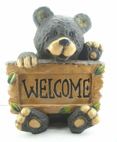 "Welcome Bear Statue 17""H"