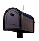 Bellevue Mailbox (Black w/ Platinum Flag)
