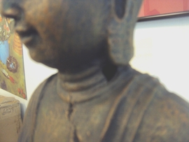 "Damaged Buddha Statue (16""H)"