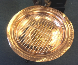 Damaged Copper Fire Pit 24""