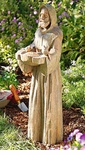 Damaged 	Saint Francis Garden Statue