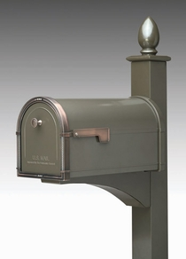Decorative Mailbox Post (Black)