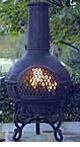 "Defective Cast Aluminum Chiminea (38""H)"