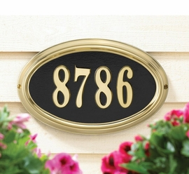 DeSign-it Oval Plaque Frame - Standard Wall - Satin Brass