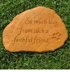 "Faithful Friend Garden Stone 11"" W"