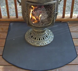 "Fire Resistant Chiminea Pad 48"" (Half Round)"