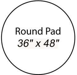 "Fire Resistant Chiminea Pad 48"" (Round)"